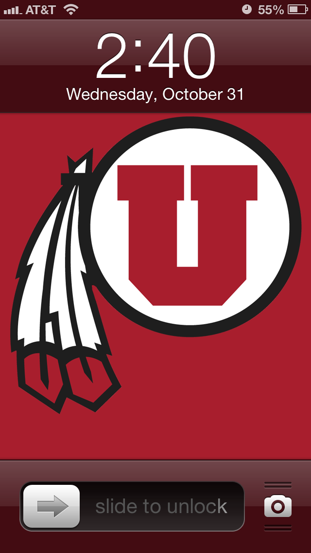 Utah Utes iPhone 5 wallpaper